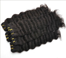 "Wholesale Indian Trade - Trade 5A ! Brazilian Hair Extension Deep Wave 12""-28""DHL Free Shipping 100% human hair weave double weft"