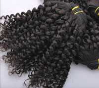 Wholesale 5a virgin hair pcs for sale - 20 off Malaysian Virgin Hair Weft A Curly Human Gram Hair Extension Natural Color Mix Length