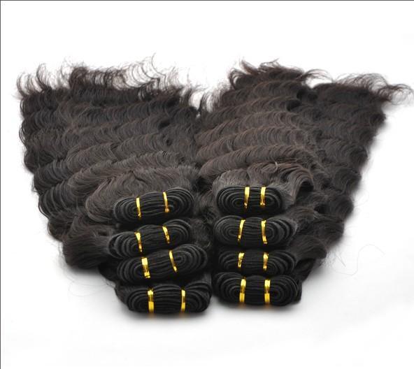Brasilianskt hårförlängning Deep Wave Curly 12