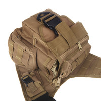 Wholesale Molle Tactical Shoulder Strap Bag Pouch Travel Backpack Camera Military Bag Earth Outdoor Sports Bags H9767E