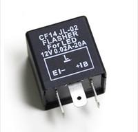 relés de moto al por mayor-12V CF14 frecuencia Relé intermitente intermitente LED Flasher relé para evitar el giro del automóvil y la motocicleta LED luces relé flash Universal