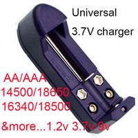 Wholesale Lithium Aa - 10pcs Battery Charger For 1.2V 3.6V 3.7V Li-Ion Lithium NI-MH AA AAA 9V CR123A, 18650, 14500 (HG-103W)