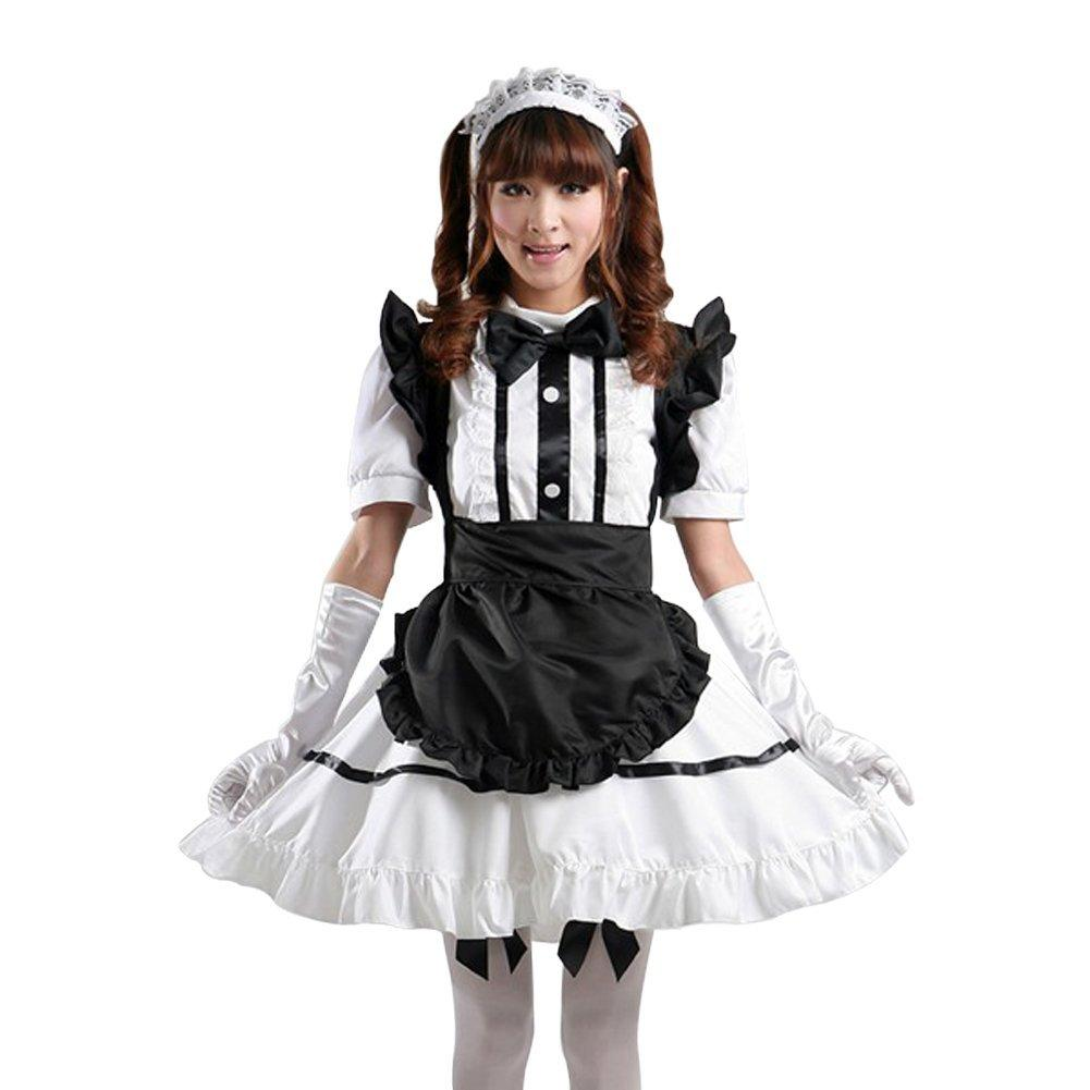 Treasure Box Japanese Anime Maid Cosplay Apron Outfit Costumes ...
