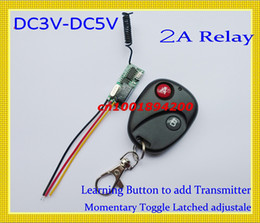 Wholesale Relay Switches - Remote Control Switch DC3V 3.7V 4.5V 5V Mini Small Volume Remote ON OFF System 315 433.92MHZ 2A Relay Remote System