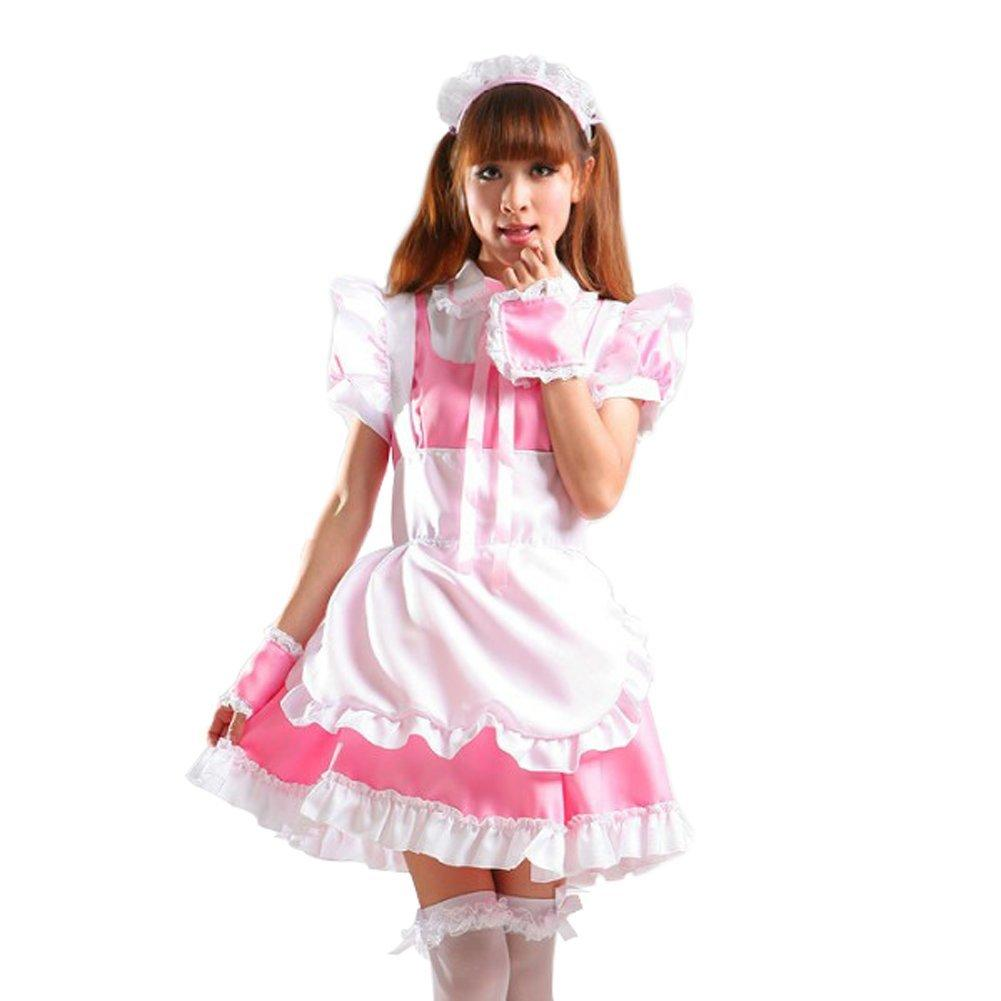 Treasure Box Womenu0027s Coffee Shop Servant Cosplay Uniform French Maid Costume Pink Maid Dress Adult Halloween Costume Tinkerbell Halloween Costume From ...  sc 1 st  DHgate.com & Treasure Box Womenu0027s Coffee Shop Servant Cosplay Uniform French Maid ...