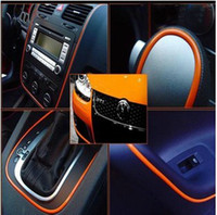 Wholesale Car Exterior Decoration Accessories - Multi Color Flexible Trim For Car Interior Exterior Moulding Strip Decoration Car Accessories 5 meter lot