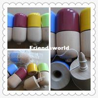 pille kendama spielzeug großhandel-Freies Verschiffen 11x5CM glatte Pille Kendama Spielzeug japanisches traditionelles hölzernes Spiel scherzt Spielzeug PU-Lack-Buche 100PCS