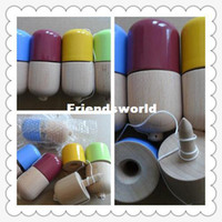 Wholesale paint free games - Free Shipping 11x5CM Glossy Pill Kendama Toy Japanese Traditional Wood Game Kids Toy PU Paint & Beech 100PCS