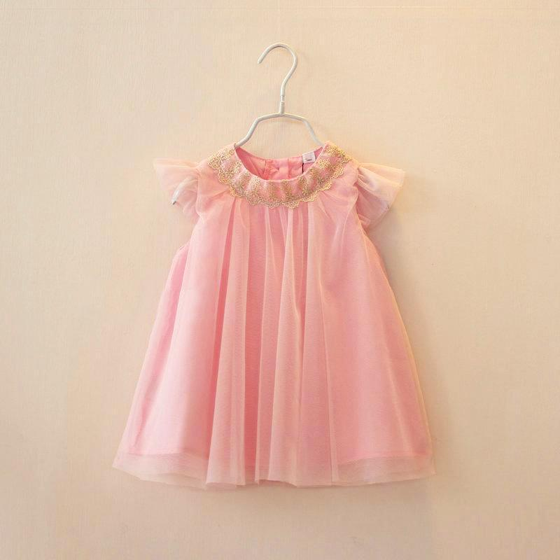Baby kleid rosa gold