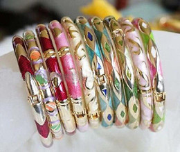 Wholesale Enamel Cloisonne Bracelet Bangle - Wholesale Fashion wholesale 10 PCS Chinese cloisonne Bracelets