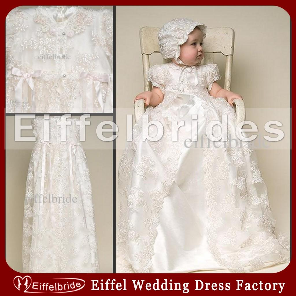 Best Vintage Christening Gowns With Lovely Jewel Neckline