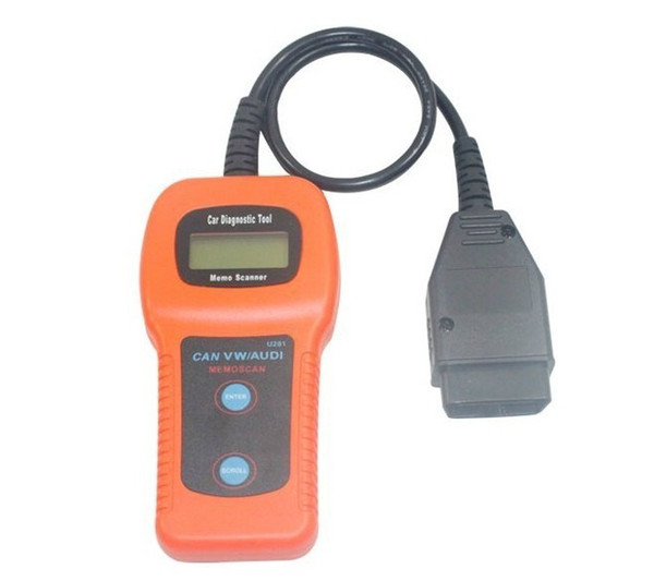 Free Shipping U281 OBD2 EOBD Code Reader CAN-BUS Diagnostic Scanner U281 OBD 2 Scanner Code Reader AirBag ABS Reset Tool