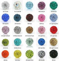 150 pcs / lot 10 mm Mixed Micro Pave CZ Disco Ball Cristal Shamballa Perle Bracelet Collier Perles DIY .hot Vente en gros! Stock! Mixed Lot!