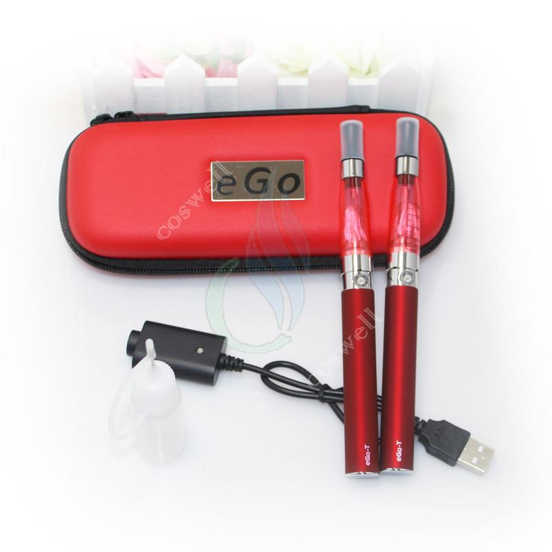 New Double eGo CEful Zipper ego case electronic cigarette starter kits with CE4 atomizer ego t battery mutli color optional A quality