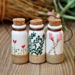 Colourful pendant neCklaCe online shopping - Lovely Handcrafts Colourful Porcelain Bottles Scent Bottle for Children Gifts ZH0310