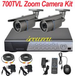 Wholesale Cheapest Cctv Camera Recorders - Cheap best cctv system 2ch cctv kit zoom lens ir night vision cctv security surveillance camera 4CH D1 DVR network digital video recorder