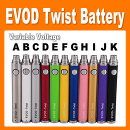 E cig battEriEs wholEsalE online shopping - EGO Evod Twist Variable Voltage Battery E cigarette Battery mAh mah mah for ego MT3 CE4 CE5 CE6 Atomizer e cig