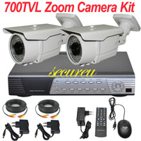 Wholesale Cheapest Bullet Cameras - Top selling rated cheapest 2ch CCTV kit cctv security system remote view ir night vision surveillance video monitor camera 4CH full D1 DVR