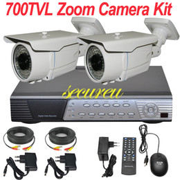 Wholesale 2ch Surveillance Camera - Top selling rated cheapest 2ch CCTV kit cctv security system remote view ir night vision surveillance video monitor camera 4CH full D1 DVR