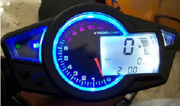 Wholesale Motorcycle KS LCD digital Odometer Speedometer Tachometer Motorcycle Backlight quot quot wheel rpm fit most bike high quality