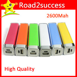 Wholesale External Battery For Galaxy Note2 - 2600mAh Emergency External Battery Charger Lipstick Power Bank Charger for Galaxy i9500 i9300 Note2 N7100 iphone Fedex Free MOQ 100pcs lot