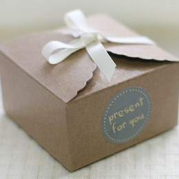 wedding cake small boxes NZ - Kraft Brown Paper Scalloped Small Box - Wedding  Party Favor - Soap  Cake  Macaron  Cookie Packaging - Gift Box