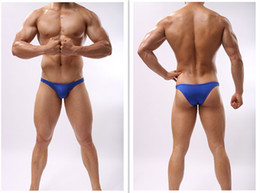 Wholesale Men Low Waist - JOE Men U convex pouch silky sexy low waist half a pack hip little sexy men 's underwear briefs