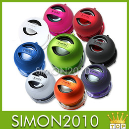 Wholesale Mini Portable Capsule - Colorful Brand New XMI X MINI XMINI 2 Portable Hamburger Capsule Mini Speaker Speakers II without package