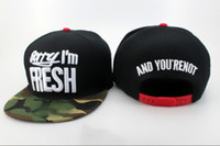 Wholesale Cheap Gym Wholesale - Fashion Street Headwear Sorry I'm Fresh Snapbacks hats camo flat brim cool sports caps 2014 new style top quality cheap snap back caps