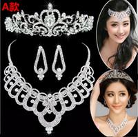 Wholesale Brass Headband - 2014 new High quality Crystal New Bridal Headband Crown tiara wedding accessories Women headdress Tiaras & Hair Accessories free shipping