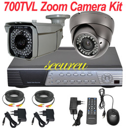 Wholesale Dvr Security Camera System Cheap - Cheap best 2ch cctv kit Sony 700TVL vari focal zoom lens cctv camera security system install 4CH D1 HD DVR network digital video recorder