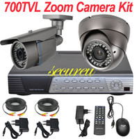Wholesale Dvr Security Camera System Cheap - Free shipping cheap best cctv surveillance system install 2ch cctv kit cctv security dome bullet video camera 4CH D1 HD DVR video recorder