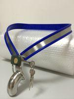 y paslanmaz saflık toptan satış-MAVI Klasik Erkek Ayarlanabilir Model-Y Y-tipi paslanmaz çelik bekaret kemeri 3 renk Ch-mavi
