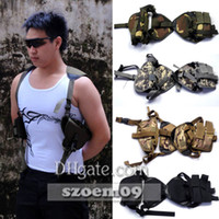 Wholesale Shoulder Pistol Holster - Tactical Pistol Pouch Shoulder Holster Outdoor Universal For Left Right Hand