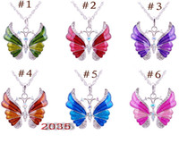 Wholesale New Fashion Nacklace - 2014 Hot Sale New Fashion Nacklace Jewelry Pendant Retro Alloy Butterfly Necklace Necklaces