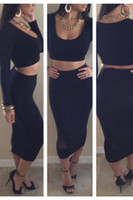 Long Black Pencil Skirt Crop Tops Online Wholesale Distributors ...