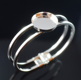 $enCountryForm.capitalKeyWord Canada - Free shipping, sterling silver 25mmRound Bangle Bracelet Blank Base Tray Bezel Cabochon Setting base for Jewelry Making