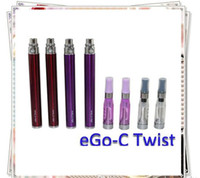 Vente en gros - Ego Twist batterie cigarette électronique réglable tension variable 3.2-4.8v E cigarette ego-c twist batterie pour EGO-T C