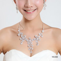 Wholesale wedding necklaces for sale - high quality Bridal Charming Alloy Plated Rhinestones Crystal Jewelry Necklace Set for Wedding Bride Bridesmaid Prom Party
