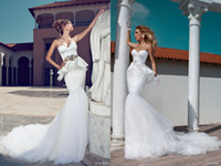 Wholesale Exclusive Bridal Dresses - Exclusive Julie Vino 2014 Wedding Dresses Sweetheart Neck Sleeveless Mermaid Elegant Court Train Tulle And Lace Bridal Gowns
