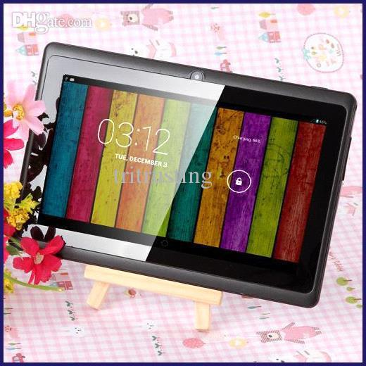 7 inch A33 Quad Core Tablet PC Q8 Allwinner Android 4 4 KitKat Capacitive  1 5GHz 512MB RAM 4GB ROM WIFI Dual Camera Flashlight Q88 A23 MQ50