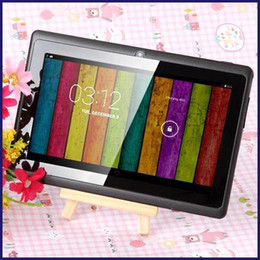 Wholesale Red Android Tablet - 7 inch A33 Quad Core Tablet PC Q8 Allwinner Android 4.4 KitKat Capacitive 1.5GHz 512MB RAM 4GB ROM WIFI Dual Camera Flashlight Q88 A23 MQ50