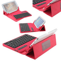 Wholesale Leather Kindle Keyboard Covers - Universal 7'' inch Tablet Removable Wireless Bluetooth keyboard & Leather Case Stand Cover For Kindle Fire HD 7