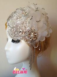 2014 yeni lüks ağır kristal püsküller şapka gelin El Yapımı dantel elmas Kore gelinler süsler headdress nereden