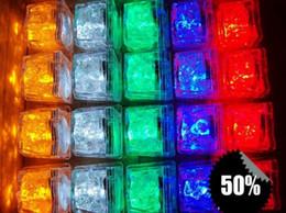 Wholesale Ice Cube Light Sale - Hot sale 12pcs box lot Led Light Ice Cube Wedding Party Decoration,all Festivals Decor supplies