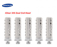 Wholesale Itaste Iclear Clearomizer - Original Innokin iClear 30S Atomizer Core Dual Coil Head fit Innokin rebuildable iClear 30s Tank Clearomizer iTaste VV MVP SVD 134 E Cigar