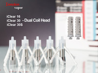 Wholesale Iclear 16 Dual Coil Clearomizer - Original Innokin iClear 16 iClear 30 iClear 30S Dual Coil Head Atomizer Core fit Innokin iClear 16 Atomizer iClear 30 30S Tank Clearomizer