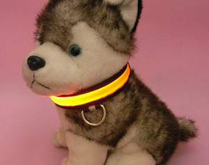 Wholesale Hot sales Nylon LED Dog Pet Flashing Light Up Safety Collar color size S M L XL