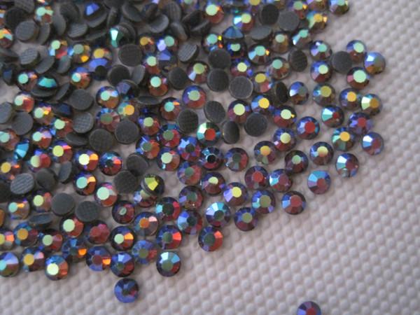 top popular 10SS 2.7-2.9MM DMC Crystal HotFix Rhinestone Iron-On Amethyst AB Hot Fix Stones SS10 2021