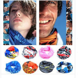 Wholesale Tie Dye Bandana Wholesale - Wholesale - Multifunctional scarf Headband Outdoor Sports Turban Sunscreen Magic Veil Bicycle Seamless bandana